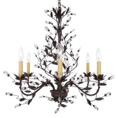 Hampton Bay 6-Light Hanging Tuscan Copper Chandelier-Y35046-163 at The Home Depot $320