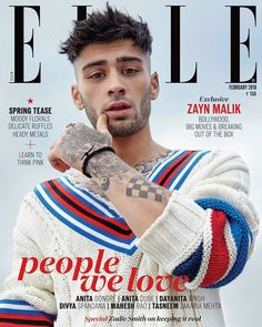 Zayn Malik en portada de ELLE India Febrero 2018