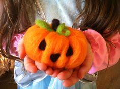 Felting a Pumpkin