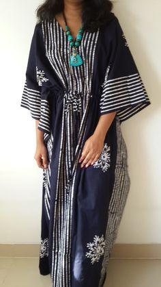 Maxi+Dress+Summer+Fashion+Batik+Kaftan+Caftan+by+FabFabricsForU,+$32.00