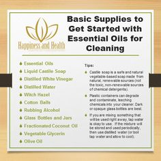From Stacy: Thinking of getting started with taking care of your home in a healthier way using essential oils and homemade cleaners? Here are some of the basic supplies you can stock up on to get started. Learn how you can ditch the toxins in your home with all the ideas in my free e-Guide.