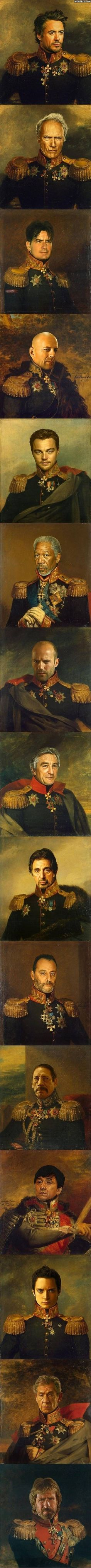 Some Hollywood actors look good painted as military leaders. Others wouldn't pass the screen test.