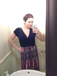 MY FIX: I kept this one as well too. It's like this dress was cut just for me. Too bad I don't have a full length mirror. It literally hits the floor perfectly. Love it!!!
