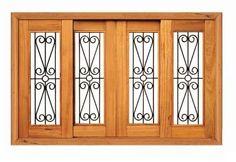janela de correr ferro e madeira 1,20m x 2,00m - angelim Wooden Window Design, Wooden Windows, House 3d Model, Main Door Design, Iron Doors, Home Decor Furniture, Metal Working, House Plans, Room Decor