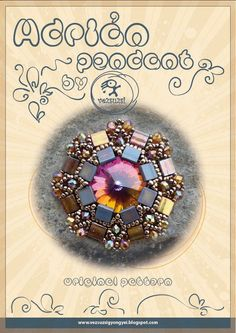 pendant tutorial / pattern Adrian pendant with Tila beads...PDF instruction for personal use only. $13.00, via Etsy.