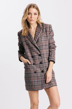 Plaid Rex Jacket Dress Combo by Karen Zambos