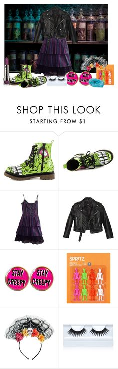 """""""punk halloween"""" by rebel-babe ❤ liked on Polyvore featuring Iron Fist, Betsey Johnson, Nasty Gal, Lucky Star and Gorgeous Cosmetics"""