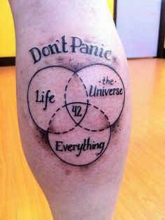 Hitchhiker's Guide To The Galaxy Tattoo