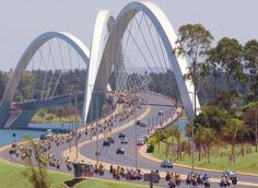 The Juscelino Kubitschek Bridge - Brasilia - Brazil, South America - I visited here while living in Brazil with my family.