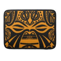 Polynesian tiki mask tattoo totem face sleeves for MacBook pro