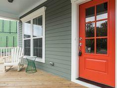 https://flic.kr/p/Ef8MUq | 002_Front Porch | Siding - Retreat Trim - Extra White Windows - White Front Door - Daredevil Shingles - Charcoal Black Gutters - White
