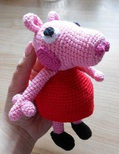 Prasátko Pepa – NÁVODY NA HÁČKOVÁNÍ Peppa Pig, Yoshi, Dinosaur Stuffed Animal, Crochet Hats, Toys, Animals, Character, Christmas, Amigurumi