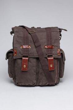 Washed Canvas Backpack/Messenger