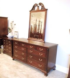 Henkel Harris Mahogany Ball And Claw Side Table With Drawer Dining Rooms Set Of