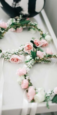 Small rose flower crowns for the flower girls. View the full wedding here… Flower Crown Wedding, Bridal Flowers, Flowers In Hair, Floral Wedding, Flower Crowns, Flower Girls, Flower Headdress, Floral Headpiece, Our Wedding