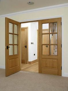 Over 200 timber and wooden doors designed to suit all budgets, find the perfect wood internal doors or external door designs from JB Kind's Door Collection. Oak Glazed Internal Doors, Glazed Fire Doors, Internal Double Doors, Internal Wooden Doors, Oak Interior Doors, Double Doors Interior, Oak Doors, Wooden Double Doors, Custom Wood Doors
