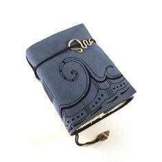 Leather Journal Suede Wave by Kreativlink on Etsy, $49.00