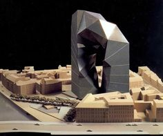 architectural model - peter eisenman - the max reinhardt house - berlin, germany - 1992