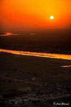 Sunrise ,river nile, egypt