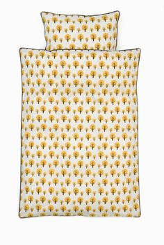 Dotty Bedding Yellow - Baby - Ferm Living - $80.25 & free shipping  Tuck in your little ones in our high quality bedding. Only the best will do, so our KIDS bedding is made of 100% organic cotton and the duvet is closed with a zipper. The bedding comes is a matching bag - perfect for keeping toys and dolls on the way to the daycare. Sweet dreams.