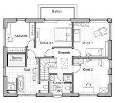 Stadtvilla grundriss mit 92 53 m wohnfl che im for Hausplan einfamilienhaus