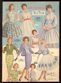Lana Lobell Spring 1961 Catalog Born to be lived in