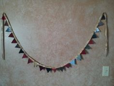 holiday+triangle+garland++upcycled+from+by+RescueRemakeRemember,+$22.00