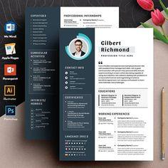 Cv Template, Templates, Resume Cv, Hobbies, Language, Photoshop, Activities, Education, Words