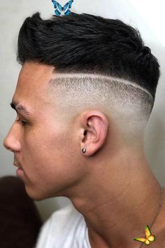 Parted Faux Hawk A hard part is a great way to spruce up and define your haircut. You can pair it with a curly combover, short sides long top, undercut fade and many other hairstyles that you can find in our gallery. #menshaircuts #menshairstyles  #hardpart #hardparthaircut<br> The hard part haircut FAQs and styling ideas. Pick a signature razor line to meet your preferences before heading to the barbershop. Mens Hairstyles Fade, Cool Hairstyles For Men, Undercut Hairstyles, Undercut Fade, Hairstyle Fade, Medium Hairstyles, Wedding Hairstyles, Popular Mens Haircuts, Haircuts For Men