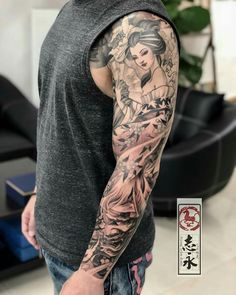 japanisch Vollarm Tattoo Mann tattoo old school tattoo arm tattoo tattoo tattoos tattoo antebrazo arm sleeve tattoo Geisha Tattoos, Geisha Tattoo For Men, Geisha Tattoo Sleeve, Asian Tattoo Sleeve, Geisha Tattoo Design, Japanese Sleeve Tattoos, Full Sleeve Tattoos, Sleeve Tattoos For Women, Tattoo Sleeve Designs