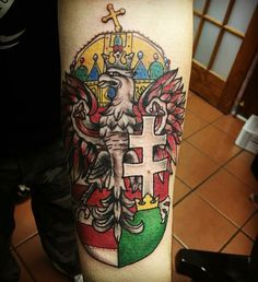 My crest Hungarian Tattoo, Mole Tattoo, Coat Of Arms, Tatoos, Henna, Celtic, Tatting, Piercings, My Love