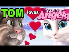 TALKING ANGELA: Tom Cat is in LOVE - YouTube