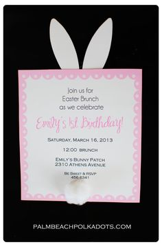 DownloadPrint Bunny Invitations Also Includes An Invite That