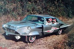 Ultraseven car...Bad things can happen to a Chrysler Imperial! But legendary show!!