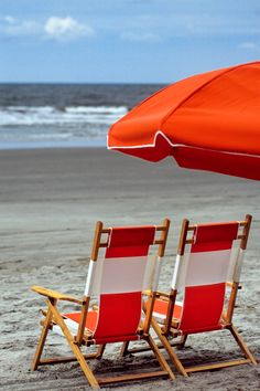 hueandeyephotography: Beach Chairs, Kiawah Island, SC © Doug Hickok All Rights Reserved More here… hue and eye Red Beach, Summer Beach, Summer Time, Beach Mom, Summer Fun, Umbrella Photography, Eye Photography, Beach Please, Red Cottage