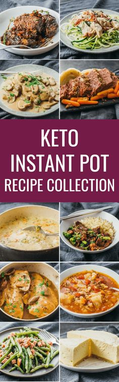 Collection of keto & low carb Instant Pot recipes. #lowcarb #keto #instantpot chicken / soup / beef / dessert / easy / pork / cheesecake / breakfast / dinner / ribs / steak / vegetarian / stew / cabbage / indian / curry / gluten free