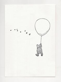 To be a Cloud - Winnie the Pooh simple poster print - copy of original illustration by E.H. Shepard - black and white childrens classic by ChildrensClassic on Etsy https://www.etsy.com/listing/277951952/to-be-a-cloud-winnie-the-pooh-simple