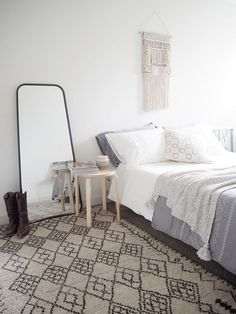 Scandi boho bedroom