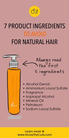 Learn why you should avoid these ingredients (and which to embrace @ http://KnowThyCurls.com