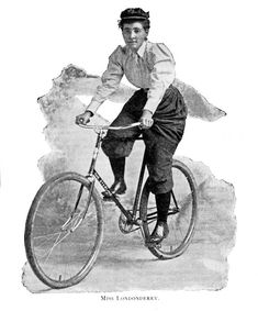 Annie Londonderry, an avid early cyclist and feminist