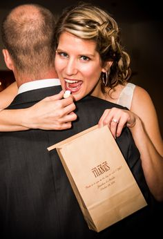 Popcorn Bar Idea - Stock your wedding reception popcorn bar with plenty of closeable tin tie favor bags personalized with a personal message from the bride and groom for guests to fill and snack on during the reception or take home to enjoy later. 6 x 9 Tin tie favor bags are the perfect size for candy buffets, donut walls and dessert bars as well.