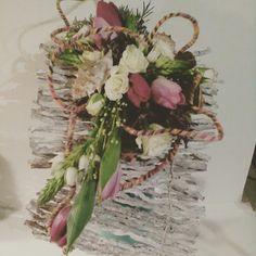 Huiswerk... Bruidsboeket op draad