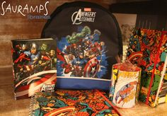 #Papeterie | Panoplie pour les super-héros : cartable Avengers, agenda Avengers, carnets et cahiers Avengers ...