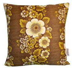Handmade Vintage Cushion 18Inch Retro Brown by PaisleyFoxDesigns, £22.00
