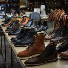 bellandoak:  Mighty fine lineup of @helmboots coming to our shop @weldons  this Spring/Fall. Impeccable quality, designed in Austin Texas, Made in America. (at Weldons Saddle Shop)