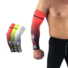 Buy 2 pcs Cool Men Cycling Running Bicycle UV Sun Protection Cuff Cover Protective Arm Sleeve Bike Sport Arm Warmers Sleeves Newest Vertical Striped Shirt, Elbow Support, Compression T Shirt, Nike Pro Shorts, Sport Bikes, Sun Protection, Arm Warmers, Jogging, Cycling