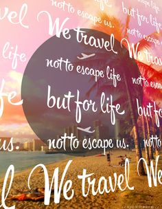We #travel not to #escape #life but for life not to escape us! #dream #vacation #holiday #palms #beach #hawaii #honolulu #sand #sands #traveller #traveler #fun #friends
