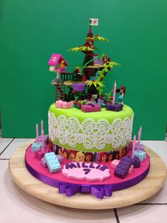 Lego Friends Jungle Tree Sanctuary cake.