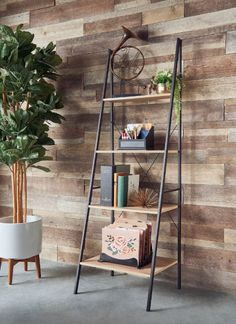 Use a ladder shelf to display your pictures, knick-knacks, and ~growing~ succulent family. These are great if you're a renter and can't put tons of holes in your wall.