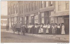 RP: Crowd on Main Street , AMES, Iowa , 00-10s